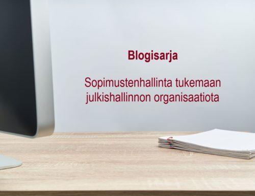 Blogisarja – Sopimustenhallinta tukemaan julkishallinnon organisaatiota